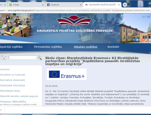 March 2019 A Visit to Slovenia. An article on Daugavpils Educational Department site