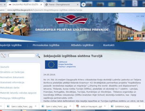 May 2019 Visit to Turkey.  An article on Daugavpils Educational Department site